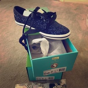 Kate Spade Keds - navy sparkle (sizes: 8 and 8.5)
